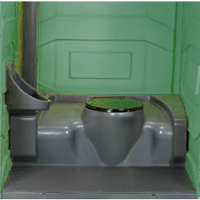 Portable Toilet inside fixed
